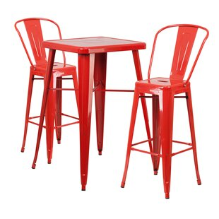 Jesse 3 Piece Bar Height Dining Set