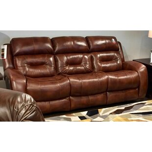 Showcase Genuine Leather Loveseat