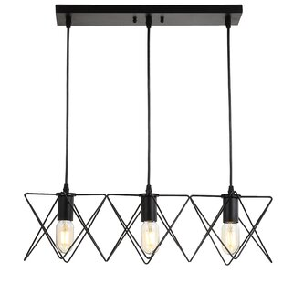 Hemenway 3-Light Kitchen Island Pendant