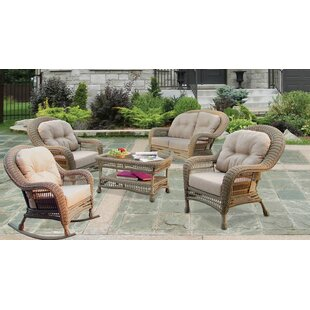 Rozier Garden Patio 5 Piece Sofa Seating Group with Cushions