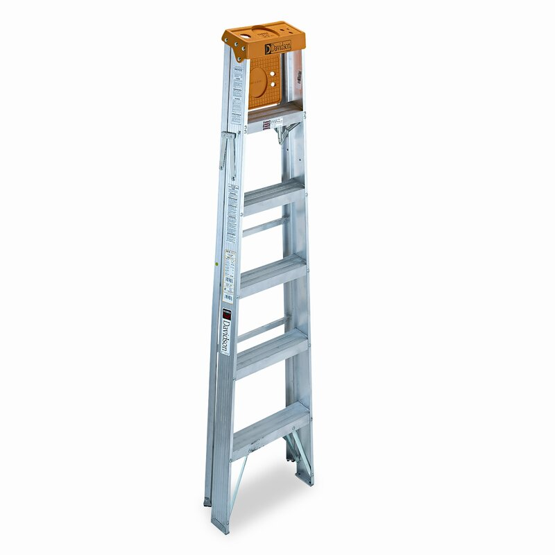 6 ft Aluminum Louisville Folding Step Ladder with 225 lb. Load Capacity