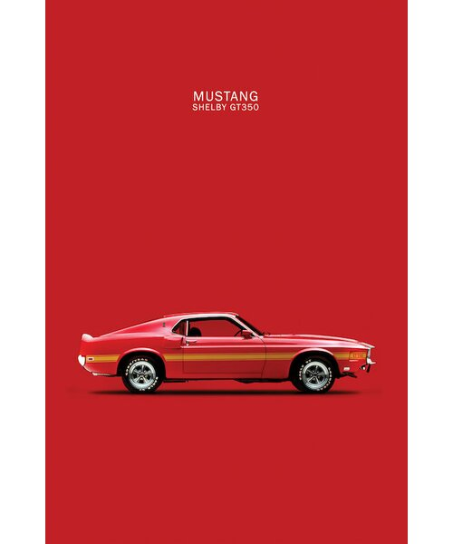"""18"""" x 24/"""" Giclee FORD SHELBY MUSTANG GT350 SPORTS CAR AD ART POSTER REPRINT"""
