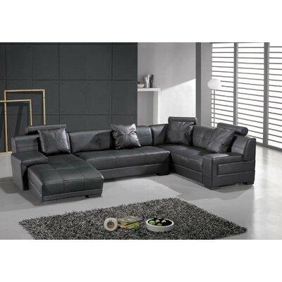 Orren Ellis Beideman Sectional Upholstery: Black, Orientation: Left Hand Facing
