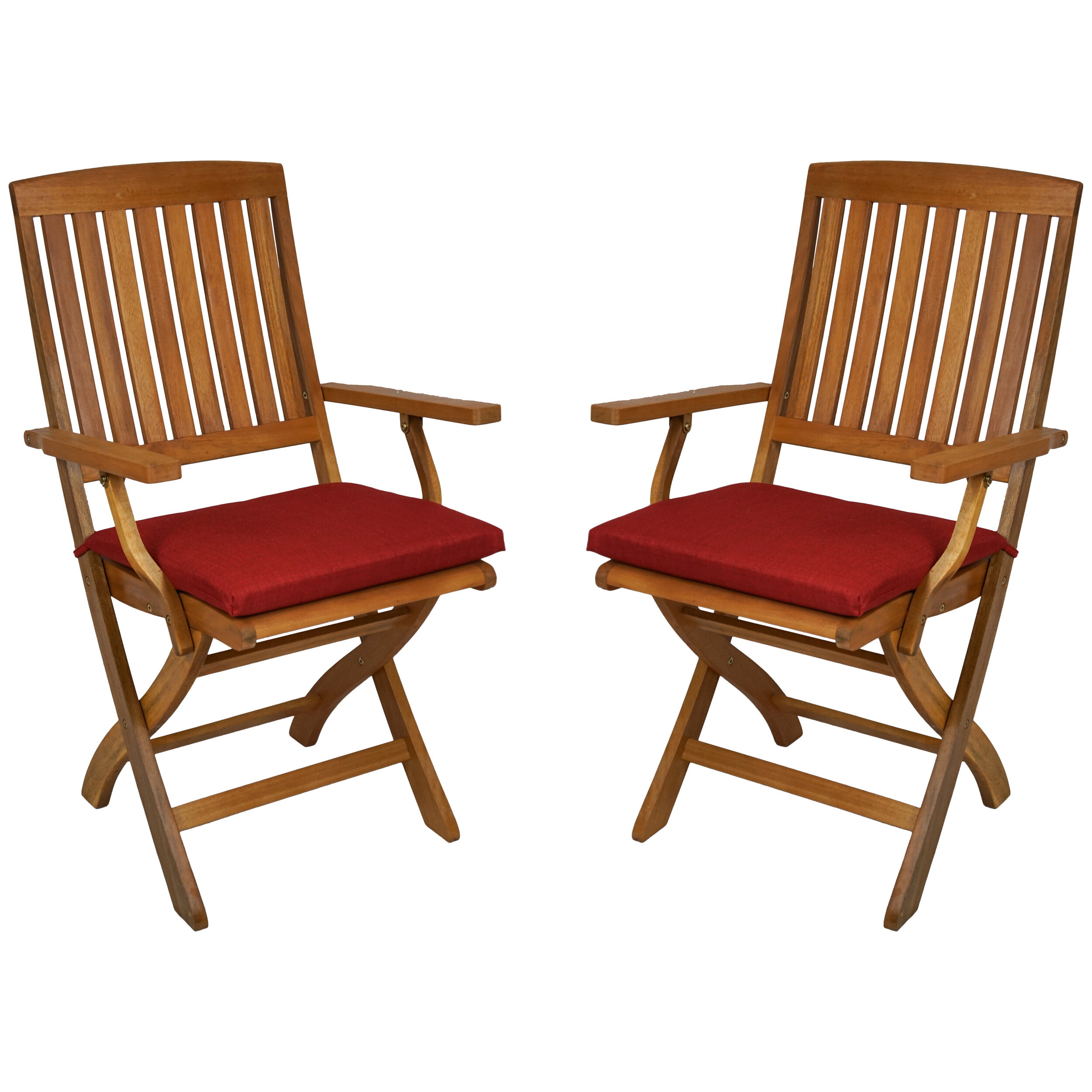 Blazing Needles Indoor Outdoor Folding Patio Chair Cushion Reviews Wayfair