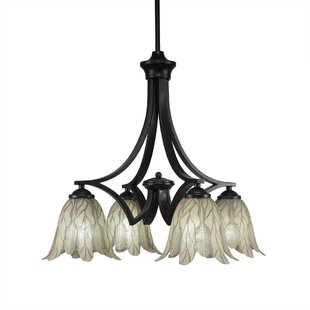 Best Shaded Chandelier Made In The Usa Longshore Tides Cardoza 4 Light Shaded Classic Traditional Chandelier