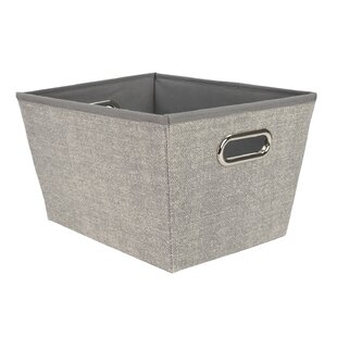 Price Check Open Storage Tote Fabric Bin (Set of 2) By Home Basics