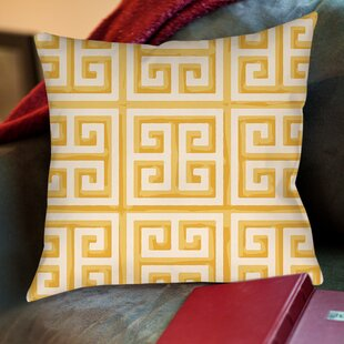 Greek Key II Printed Throw Pillow