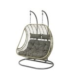 Tania 2 Seat Double Hanging Swing Chair with Stand