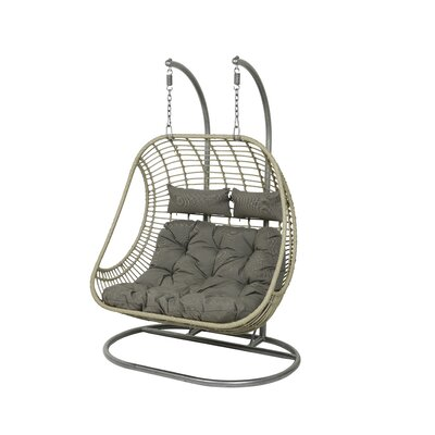 Tania 2 Seat Double Hanging Swing Chair With Stand by Bayou Breeze Savings