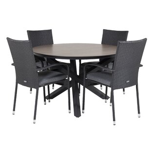 Drishya 4 Seater Dining Set With Cushions By Sol 72 Outdoor