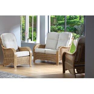 Buy Sale Wendy 3 Piece Conservatory Sofa Set (Set Of 3)