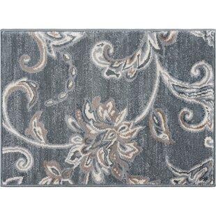 Dolphus Oriental Dark Gray Area Rug