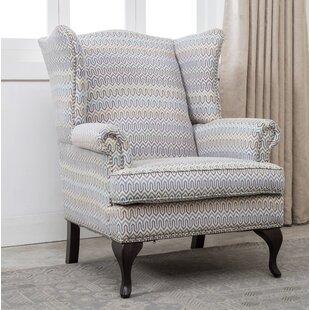 Darby Home Co Medau Geometric Print Wingback Chair
