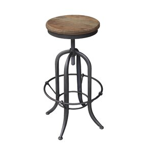 Adjustable Height Bar Stool by White x Wh..