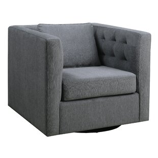 Lorine Tufted Swivel Armchair by Ivy Bronx