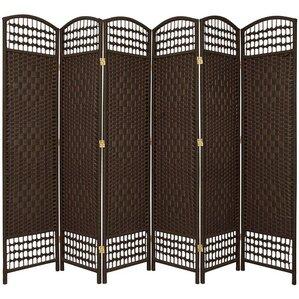 67 X 76 Weave 6 Panel Room Divider