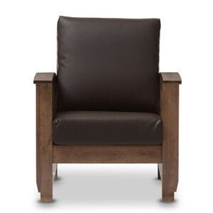Agoura Hills Faux Leather Armchair by Loon Peak