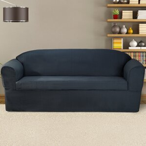 Bayleigh Box Cushion Sofa Slipcover by CoverWorks