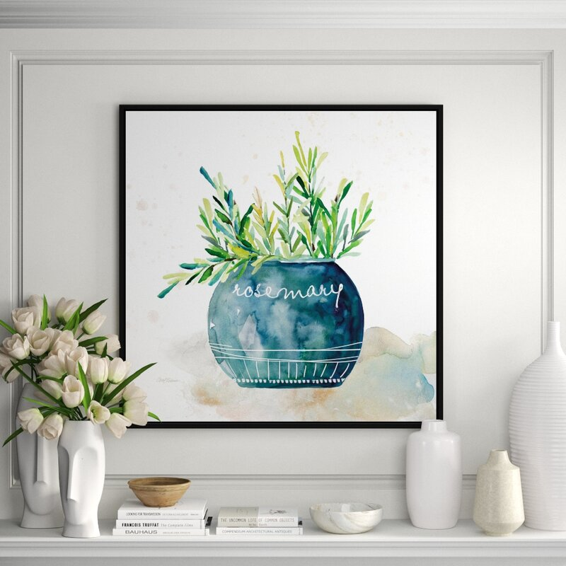 Jbass Grand Gallery Collection Potted Rosemary Framed Print On Canvas Perigold