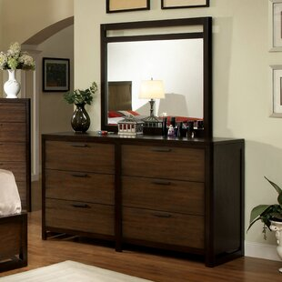 Clanton 6 Drawer Double Dresser with Mirror