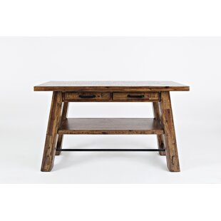 Keaton Wood & Metal Trestle Console Table by Millwood Pines
