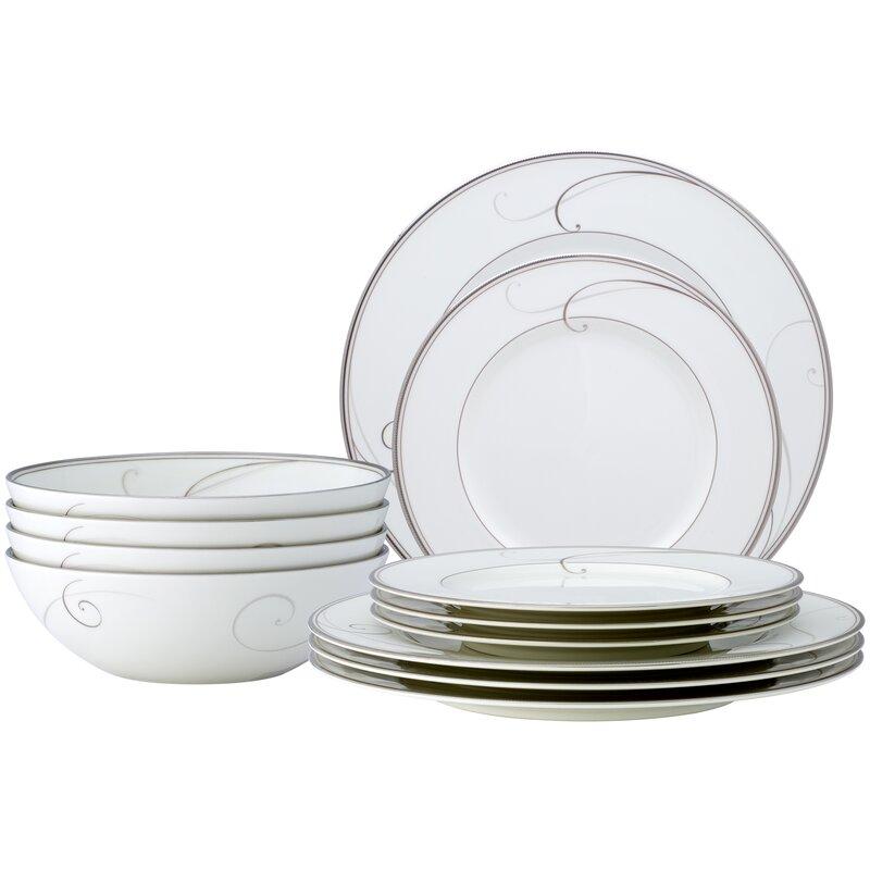 Legendary 4 Dinner Plates and 4 Dessert Plates by Noritake Made In Sri Lanka