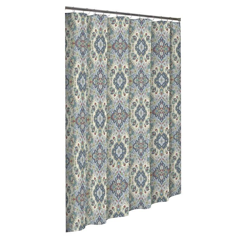 Charlton Home Fairlawn 100 Cotton Single Shower Curtain Reviews Wayfair