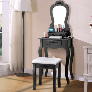 House of Hampton Henrik Vanity Set with Mirror