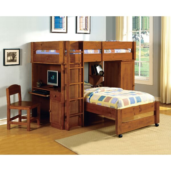 Twin Bunk Beds With Storage Part - 39: Au0026J Homes Studio Radley Twin Bunk Bed With Storage U0026 Reviews | Wayfair