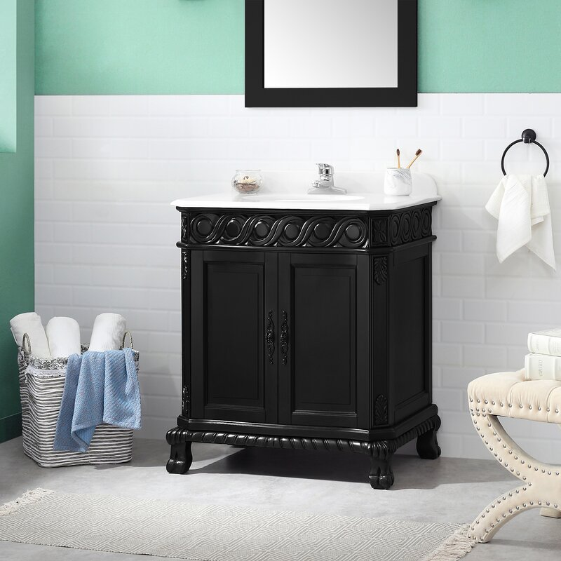 Fleur De Lis Living Onecre 30 Single Bathroom Vanity Set Wayfair