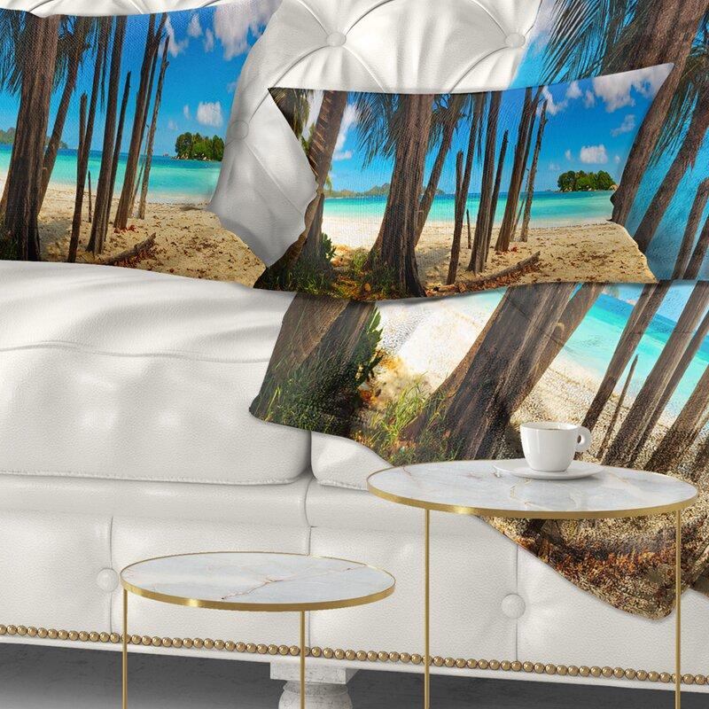 East Urban Home Seascape Praslin Island Tropical Beach Panorama Lumbar Pillow Wayfair