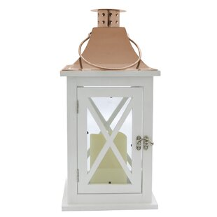 LED Metal Lantern by Rosecliff Heights
