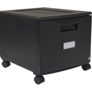 Storex 1-Drawer Mobile Lateral Filing Cab..