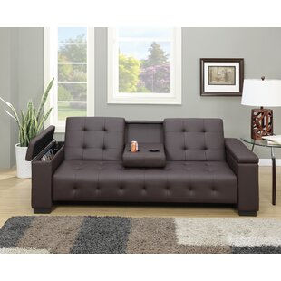 Cheesman Adjustable Sofa With Dropdown Console by Ebern Designs Best #1