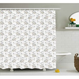 Keene Horoscopes With Sun Crescent Moon Faces Boho Celestial Arrows Artprint Single Shower Curtain