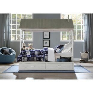 Sartell Twin Panel Bed with Trundle by Harriet Bee