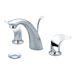 Just Manufacturing Widespread Bathroom Faucet with Drain Assembly