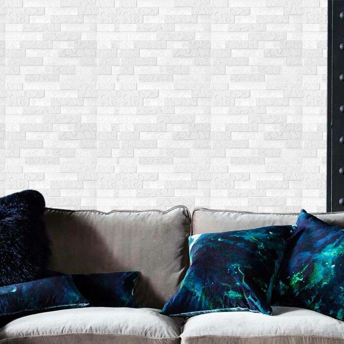 Lamberto 24 L X 24 W 3d Embossed Peel And Stick Wallpaper Tile