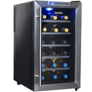 18 Bottle Single Zone Freestanding Wine Cooler by NewAir