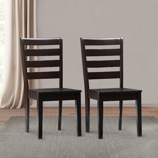 Goodman Solid Wood Dining Chair (Set of 2) Breakwater Bay