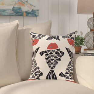 Grand Ridge Big Fish Coastal Outdoor Throw Pillow