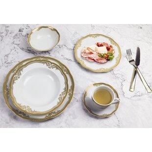 Catherine 57 Piece Dinnerware Set, Service For 8 by Lorren Home Trends Best