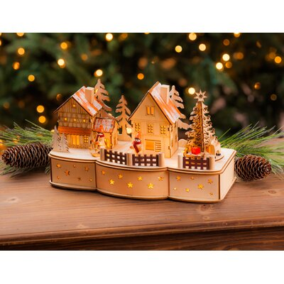 The Holiday Aisle Wooden LED Village