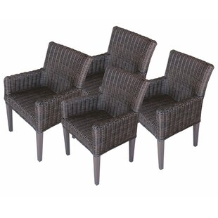 Venice Patio Dining Chair With Cushion (Set Of 4) by TK Classics 2019 Online
