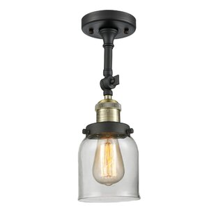 Breakwater Bay Wynkoop Bell Glass 1-Light Semi Flush Mount