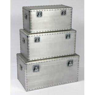 Riegel Aluminum Rectangle 3 Piece Trunk Set by Williston Forge