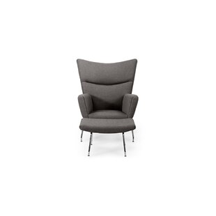 Compare Blumenthal Wing Ebony Wingback Chair and Ottoman by Orren Ellis Reviews (2019) & Buyer's Guide