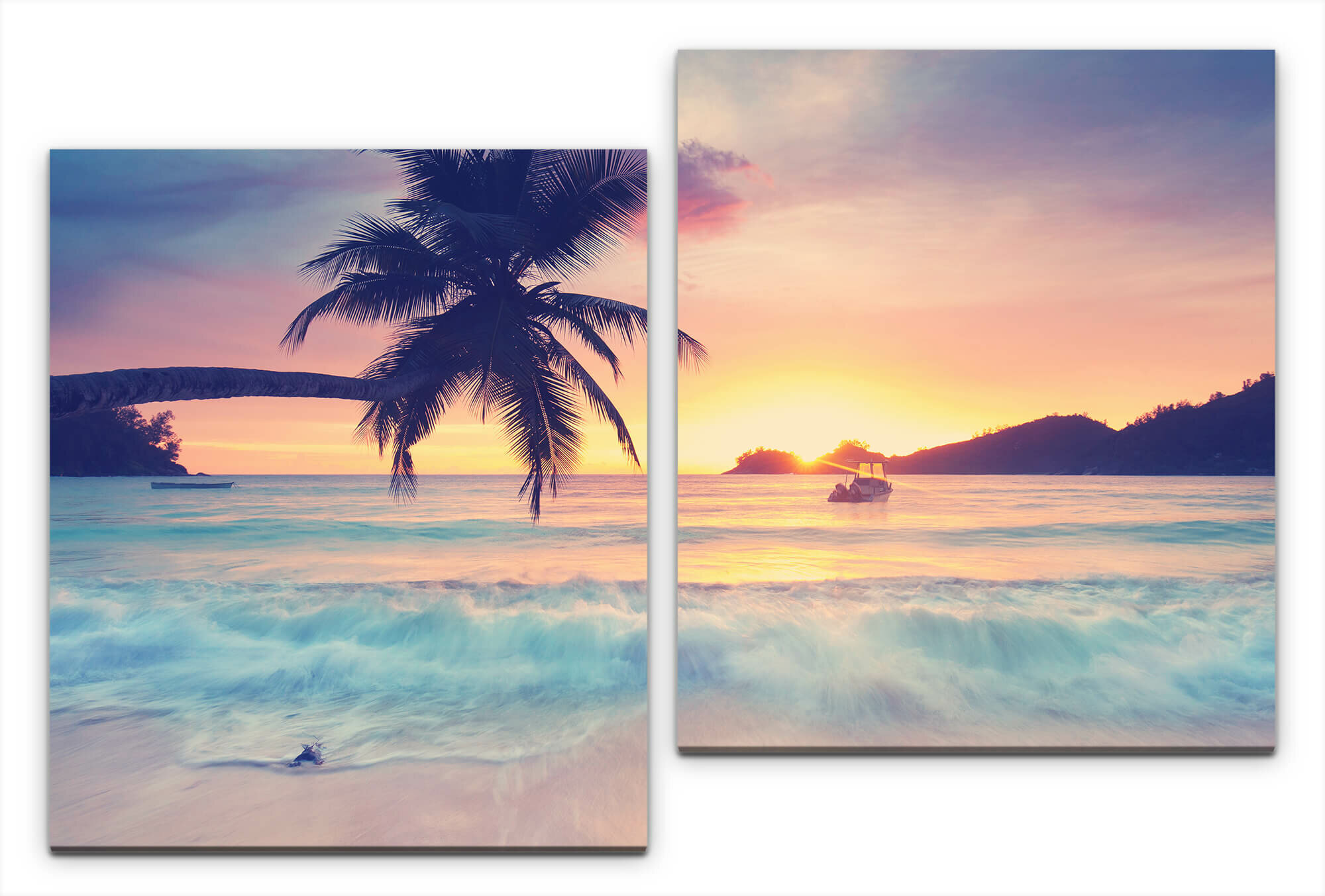 East Urban Home Seychelles 2 Piece Photographic Art Print Set On Wrapped Canvas Wayfair Co Uk