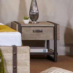 Dominey 1 Drawer Nightstand by Gracie Oaks