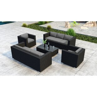 Glendale 5 Piece Sofa Seating Group With Sunbrella Cushion By Everly Quinn